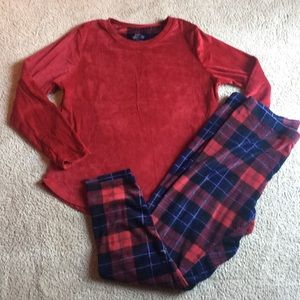 Cuddle Duds Climate Right XL red plaid